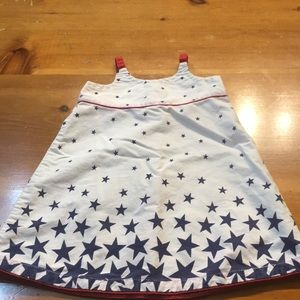 🍁5/$10 old navy little girl dress blue stars